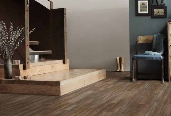 Resilient Highland II vinyl flooring